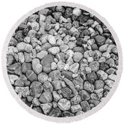 Rocks From Beaches In Black And White Round Beach Towel
