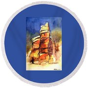 Rocks Of Lovett Round Beach Towel