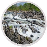 Rocks Of The Potomac Round Beach Towel