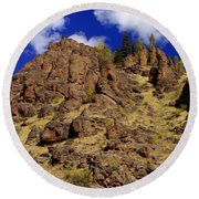 Rocky Butte Round Beach Towel
