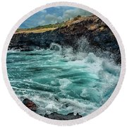 Rocky Coast Round Beach Towel