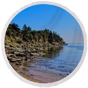 Rocky Coastline Round Beach Towel