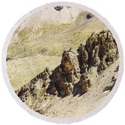Rocky Landscape - 3 - French Alps Round Beach Towel