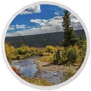 Rocky Mountain Afternoon Round Beach Towel