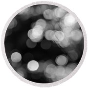 Rocky Mountain Bokeh Round Beach Towel