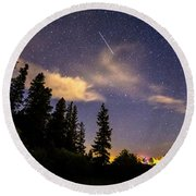 Rocky Mountain Falling Star Round Beach Towel