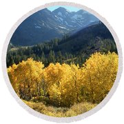 Rocky Mountain High Colorado - Landscape Photo Art Round Beach Towel