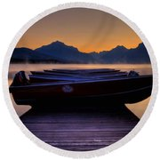 Rocky Mountain Magic - Seveneleven Round Beach Towel
