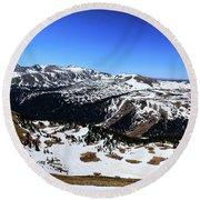 Rocky Mountain National Park Pano 2 Round Beach Towel