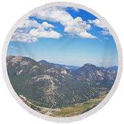 Rocky Mountain National Park Panoramic Round Beach Towel