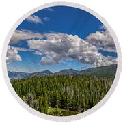 Rocky Mountain Overlook Round Beach Towel