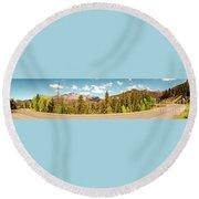 Rocky Mountain Panorama Round Beach Towel