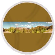 Rocky Mountain Panorama Too Round Beach Towel