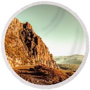 Rocky Mountain Route Round Beach Towel