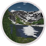 Rocky Mountain Round Beach Towel