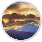 Rocky Mountain Springtime Sunset 3 Round Beach Towel by James BO  Insogna