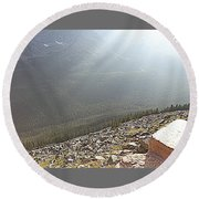 Rocky Mountain Sunbeam II Round Beach Towel