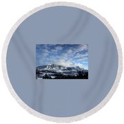 Rocky Mountains Round Beach Towel