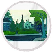 Rocky Neck Art Colony East Gloucester Ma Round Beach Towel