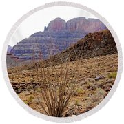 Rocky Slope Grand Canyon Round Beach Towel