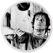 Rocky Sylvester Stallone Collection Round Beach Towel