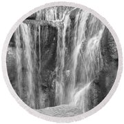 Rocky Waterfall Round Beach Towel