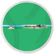 Rod And Reel Pier 360 Degrees Round Beach Towel