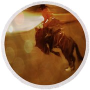 Rodeo Abstract Round Beach Towel
