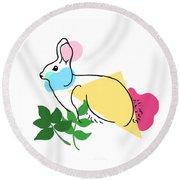 Roger Bunny Round Beach Towel