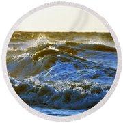 Rolling Waters Round Beach Towel