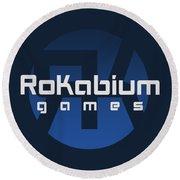 Rokabium Games Logo Round Beach Towel
