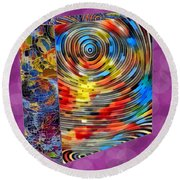 Roll With It Round Beach Towel