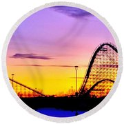 Rollercoaster Of Life Round Beach Towel