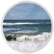 Rolling Ashore Round Beach Towel