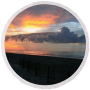 Rolling Clouds  Round Beach Towel