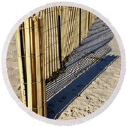Rolling Fence Round Beach Towel