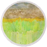 Rolling Heavens Round Beach Towel