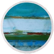 Rolling On The Blue Round Beach Towel