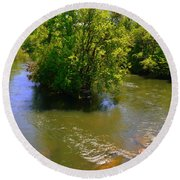 Rolling On The River Round Beach Towel