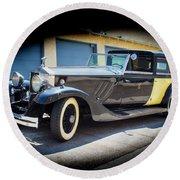 Rolls-royce Phantom II 1929 Round Beach Towel