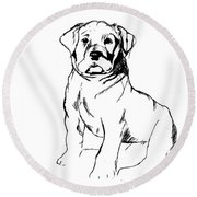 Roly Poly Round Beach Towel
