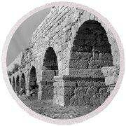 Roman Aqueduct Round Beach Towel