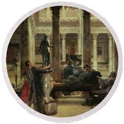 Roman Art Lover Round Beach Towel
