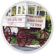 Roman Candy Round Beach Towel