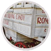 Roman Chewing Candy - Surreal Round Beach Towel