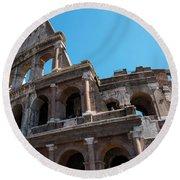 The Colosseum Of Rome Round Beach Towel
