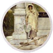 Roman Fisher Girl Round Beach Towel