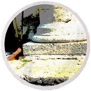 Roman Memories Round Beach Towel