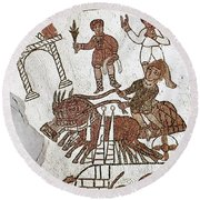 Roman Mosaic: 5th Century Round Beach Towel