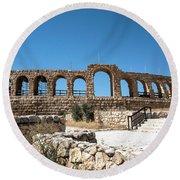 Roman Ruins Round Beach Towel
